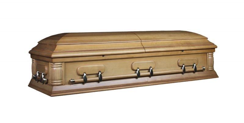 aria satin oak casket sydney coffins australia